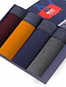 SHINO® Bumbac / Fibră de Carbon de Bambus Chiloți Boxeri Bărbătești 4 / cutie-F005-I