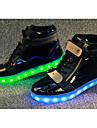 Damskie PU Wiosna / Jesień Wygoda / Świecące buty Adidasy Bieganie Płaski obcas LED Biały / Czarny