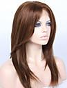 100 100% Mänsligt hår Brasilianskt Lace Wig Rak Med lugg Hel-spets Spetsfront Halvnät utan lim Helnät utan lim Med Babyhår