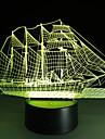 1 piesă 3D Nightlight USD Multicolor Hârtie Reciclabilă ABS 1 Lumină Bateriile Nu Sunt Incluse