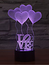 kärlek beröring dimning 3d led natt ljus 7färgad dekoration atmosfär lampa nyhet belysning ljus