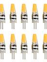 10pcs 2W 200-250 lm G4 Becuri LED Bi-pin T 1 led-uri COB Decorativ Alb Cald Alb Rece AC 12V