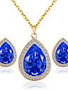 Pentru femei Set bijuterii - Include Seturi de bijuterii de mireasă Rosu / Albastru / Roz Pentru Nuntă Petrecere