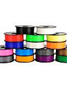 Anet 3d cu filament de imprimantă pla 1,75 mm / 3mm pentru imprimare 3D (1buc, culori aleatorii)