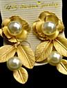 Dame Cercei Stud La modă European Perle Aliaj Flower Shape Bijuterii Pentru Zilnic Casual