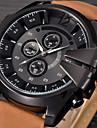 Bărbați Ceas La Modă Ceas de Mână Ceas Sport Ceas Militar  Ceas Elegant  Quartz Calendar Punk Piele Bandă Vintage Casual Cool Negru