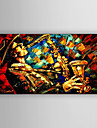 Pictat manual Oameni / Peisaje Abstracte Picturi de ulei,Modern Un Panou Canava Hang-pictate pictură în ulei For Pagina de decorare