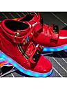 Băieți Pantofi PU Primăvară Confortabili / Pantofi Usori Adidași Plimbare Dantelă pentru Alb / Negru / Rosu