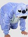 Kigurumi-pyjamas Blått Monster Onesie-pyjamas Kostym Polär Ull Blå Cosplay För Barn Pyjamas med djur Tecknad serie halloween Festival /