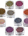 10pcs/set Akrylpulver Nail Glitter Glitterpulver Puder Glitter & Sparkle Glitter och glans Nail Art Design