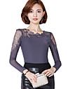 Pentru femei Mărime Plus Size Bluză Mată Peteci Dantelă Plasă Poliester Nailon