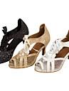 Pentru femei Pantofi Dans Latin / Pantofi Salsa Sclipici Spumant / Imitație de Piele Sandale / Călcâi Sclipici Strălucitor / Dantelă Toc