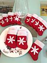 12 bucati / set mini Crăciun ciorapi dinnerware acopere Crăciun decoratiuni de brad decoratiuni petrecere de Craciun festival