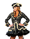 Pirate Costumes de Cosplay Costume de Soiree Feminin Halloween Carnaval Fete / Celebration Deguisement d\'Halloween Noir Imprime