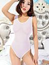 Pentru femei Ultra Sexy Teddy Pijamale, Subțire Nailon Mată Alb