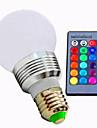 3W 320lm E26 / E27 Ampoules LED Intelligentes A60(A19) 1 Perles LED LED Haute Puissance Intensite Reglable Commandee a Distance RVB