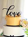 Vârfuri de Tort Temă Clasică Inimi Teracotă Nuntă cu Flori 1 Cutie de Cadouri