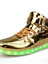 Bărbați Pantofi Flați Confortabili Piele Originală Primăvară Toamnă De Atletism Confortabili Dantelă LED Toc Plat Argintiu Rosu Auriu Plat