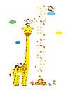 Animale Modă Crăciun Perete Postituri Autocolante perete plane Autocolante de Perete Decorative Adezive de Măsurat Înălțimea Pagina de