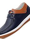 Bărbați Pantofi Piele Primăvară Vară Toamnă Iarnă Confortabili Oxfords Dantelă Pentru Casual Alb Albastru