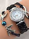 Pentru femei Ceas Brățară Ceas de Mână Ceas La Modă Quartz Stras imitație de diamant PU Bandă Sclipici Heart Shape Vintage Casual Boem
