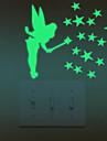 Romantik Väggklistermärken Lysande Väggstickers Klistermärken för strömbrytare Hem-dekoration vägg~~POS=TRUNC Strömbrytare