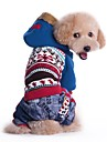 Pisici Câine Haine Hanorace cu Glugă Îmbrăcăminte Câini Bloc Culoare Albastru Roz Bumbac Costume Pentru animale de companie Bărbați