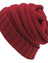 Unisex Solid Toamnă Iarnă Vintage Birou Casual Îmbrăcăminte tricotată,Beanie/Slouchy