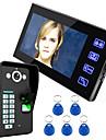 Ennio dokunmatik tuş 7 lcd parmak izi tanıma video kapı telefon interkom sistemi ir kamera hd 1000 tvline