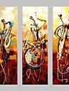 Hang-ζωγραφισμένα ελαιογραφία Ζωγραφισμένα στο χέρι - Αφηρημένο Κλασσικό Παραδοσιακό Πίνακας Μόνο / Τρίπτυχα