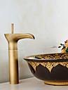 Antique Rustique Traditionnel Set de centre Douche Jet pluie Separe Soupape ceramique Mitigeur deux trous Cuivre antique, Robinet lavabo