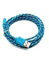 2 pakcs 2m 6ft încărcare micro USB și sincronizare de date tesatura cablu cordon împletit țesute pentru Samsung HTC dispozitive Android