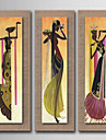 HANDMÅLAD Abstrakt Människor Stilleben Blommig/Botanisk fantasi Vertikal, Europeisk Stil Moderna Realism Duk Hang målad oljemålning