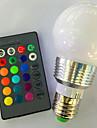 5W 120 lm E26/E27 Bulbi LED Inteligenți G95 1 led-uri LED Putere Mare Intensitate Luminoasă Reglabilă Telecomandă RGB AC 220-240V AC