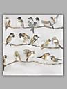 abstrait peint a la main / animaux oiseaux moderne / classique un panneau toile peinture a l\'huile