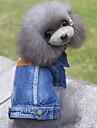 Hond Denim jacks Hondenkleding Jeans Blauw Denim Kostuum Voor Lente & Herfst Winter Heren Dames Cowboy Modieus