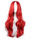 人工毛ウィッグ / コスチュームウィッグ ウェーブ レッド レッド 合成 女性用 レッド かつら ロング