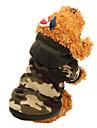 Kat Hond Jassen Hoodies Hondenkleding camouflage camouflage kleur Luipaard Katoen Kostuum Voor Lente & Herfst Winter Heren Dames Houd Warm Modieus