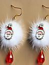 الأزياء الأوروبية والأمريكية سانتا كلوز البرقوق تزلف أضاليا أبيض أحمر الأقراط الكريستال عيد الميلاد الملحقات