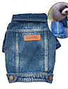 Hund Jeansjackor Hundkläder Jeans Blå Denim Kostym För husdjur Herr Dam Gulligt Cowboy Mode