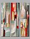 HANDMÅLAD Abstrakt Vertikal panorama-,Moderna Tre paneler Kanvas Hang målad oljemålning For Hem-dekoration