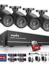 sannce® 8ch 4 i 1 720p hdmi ahd cctv dvr 4sts 1.0 mp ir utomhus säkerhet kamera övervakningssystem inbyggd 1tb hdd