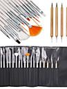 15pcs nail art peinture design stylo dessin brosse reglee avec 5pcs parsemant Marbleizing outil plume
