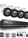 sannce 4ch 720 AHD dvr hdmi 4st 720p ir mörkerseende utomhus övervakningskamera hem säkerhetssystem övervakning kit