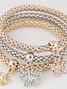 Dame Brățări cu Talismane European costum de bijuterii stil minimalist La modă Multistratificat bijuterii de lux Ștras Diamante