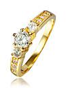 Pentru femei Inel Zirconiu Cubic Placat Auriu 18K Aur Costum de bijuterii Nuntă Petrecere Zilnic Casual