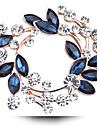 Pentru femei Cristal Broșe - Diamante Artificiale, Cristal Austriac Lux Broșă Fucsia / Auriu / Alb / Alb Pentru Nuntă / Petrecere / Zilnic