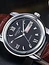 Bărbați Ceas Sport Ceas Elegant Ceas La Modă Ceas de Mână Quartz Calendar Iluminat Piele Bandă Vintage Charm Casual Negru Argint Maro