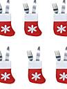 6pcs عيد الميلاد الجوارب علبة مائدة صغيرة الجوارب