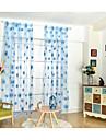 Stångficka En panel Fönster Behandling Moderna , Tryck Blomma Matsalsrum Polyester/Bomull Blandning Material Skira Gardiner Shades